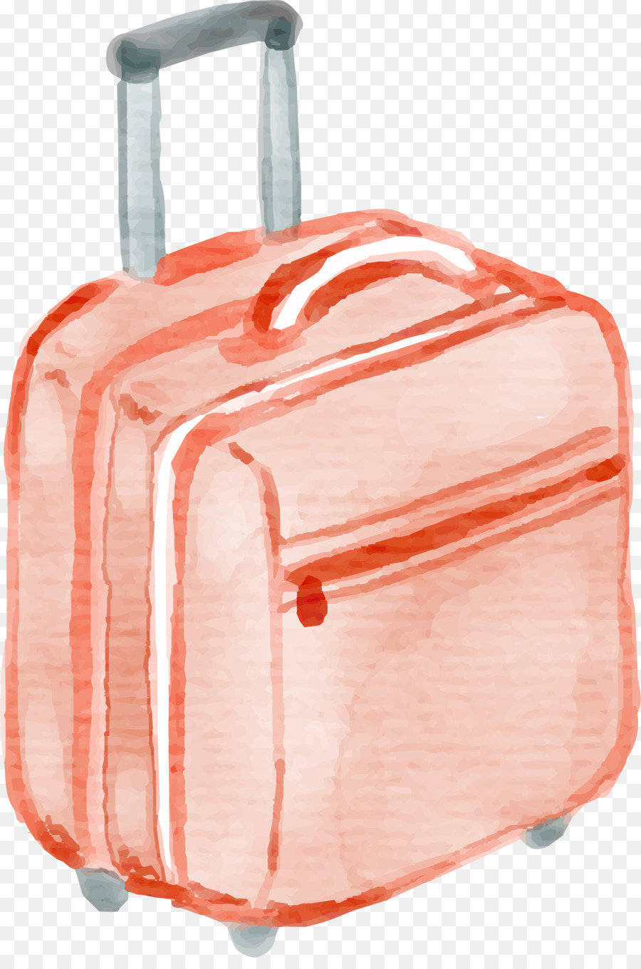 900x1360 Suitcase Watercolor Painting Baggage Drawing
