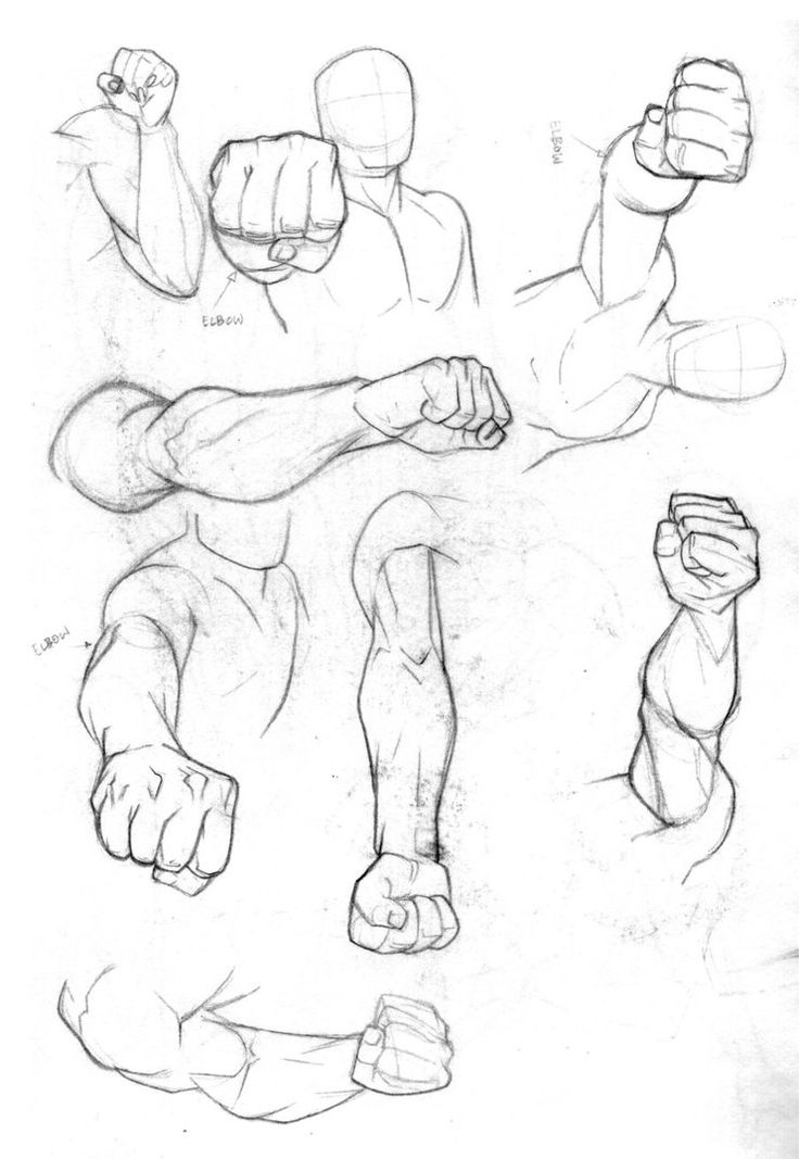Balled Up Fist Drawing