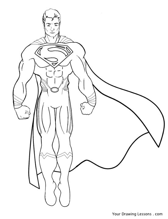 551x716 How To Draw Superman Your Drawing Lessons