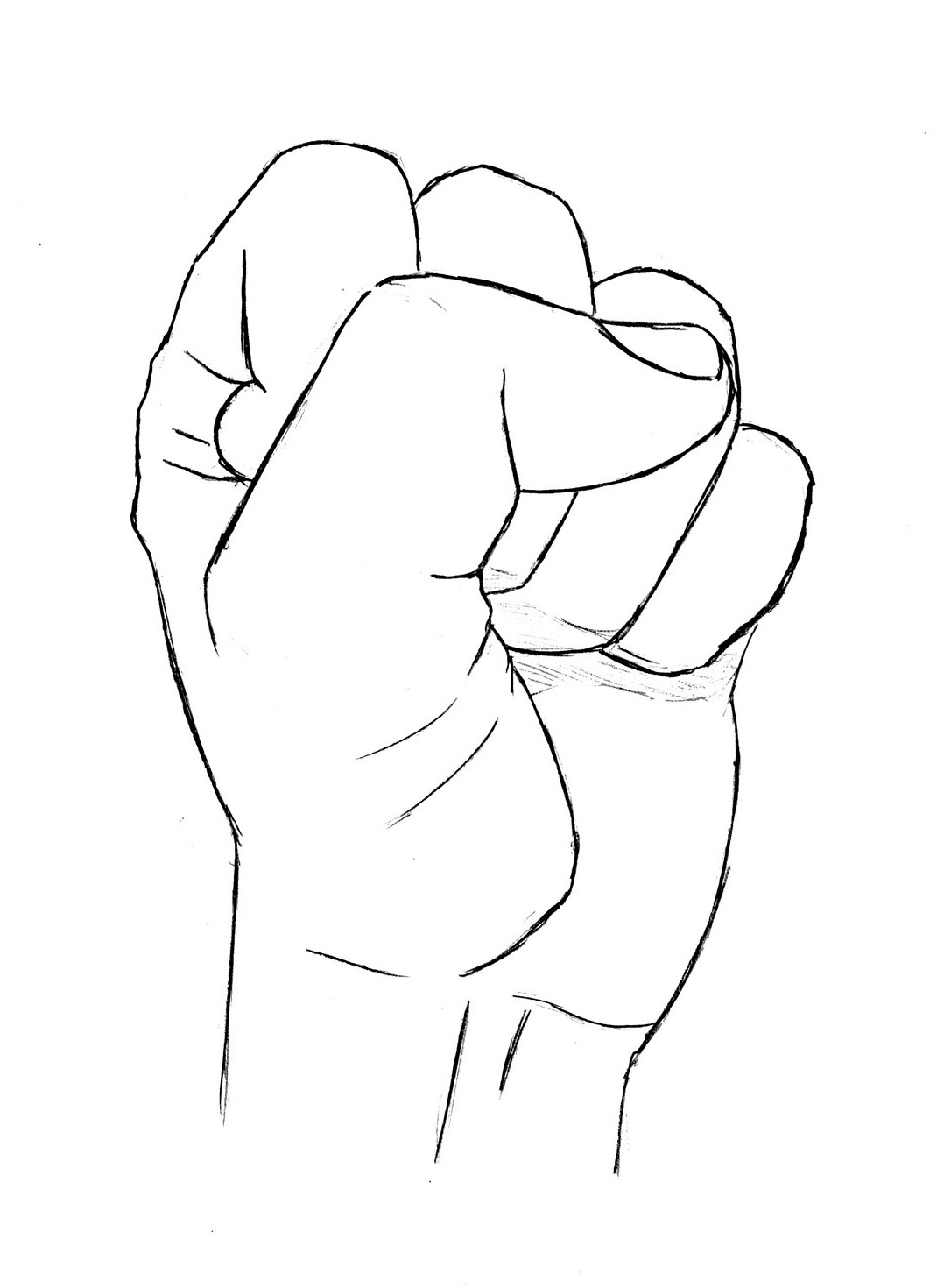 1086x1470 Collection Of Balled Fist Drawing High Quality, Free