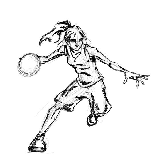 572x576 The 33 Best Drawings Images On Basketball Drawings