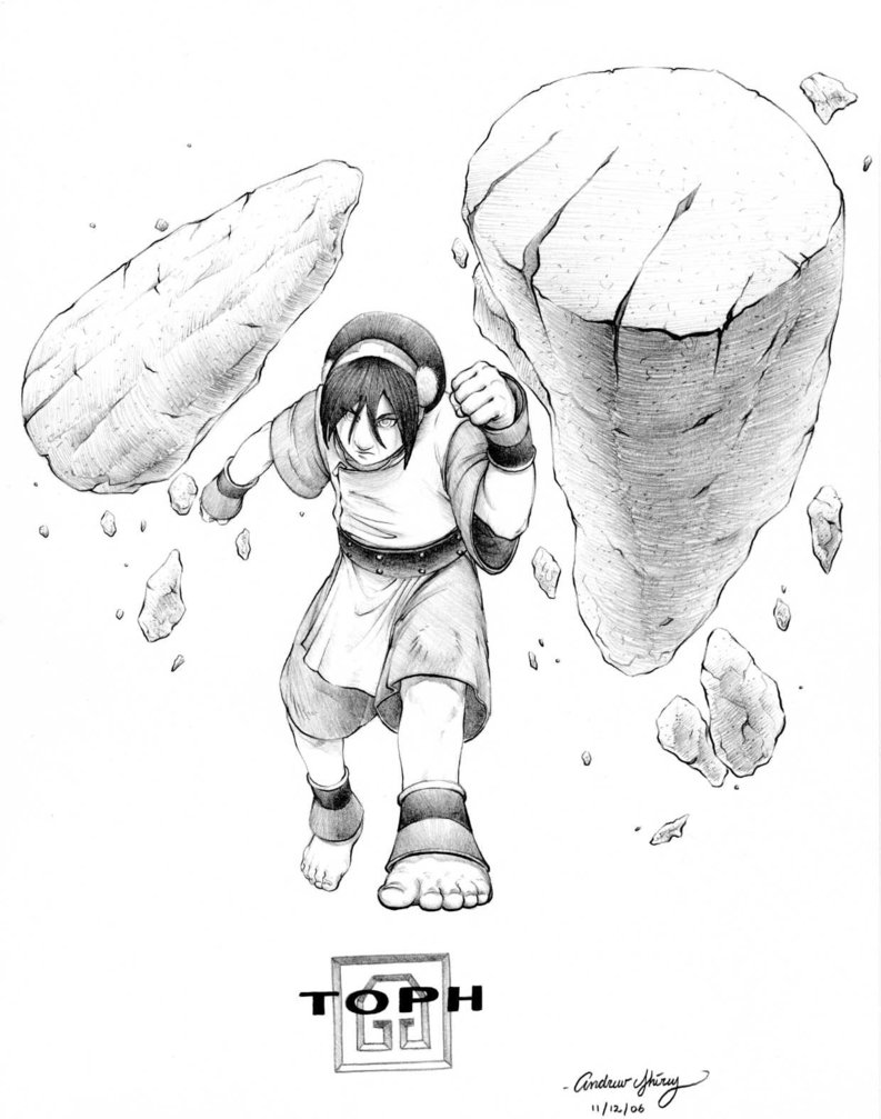 793x1007 Toph By Silentsketcher