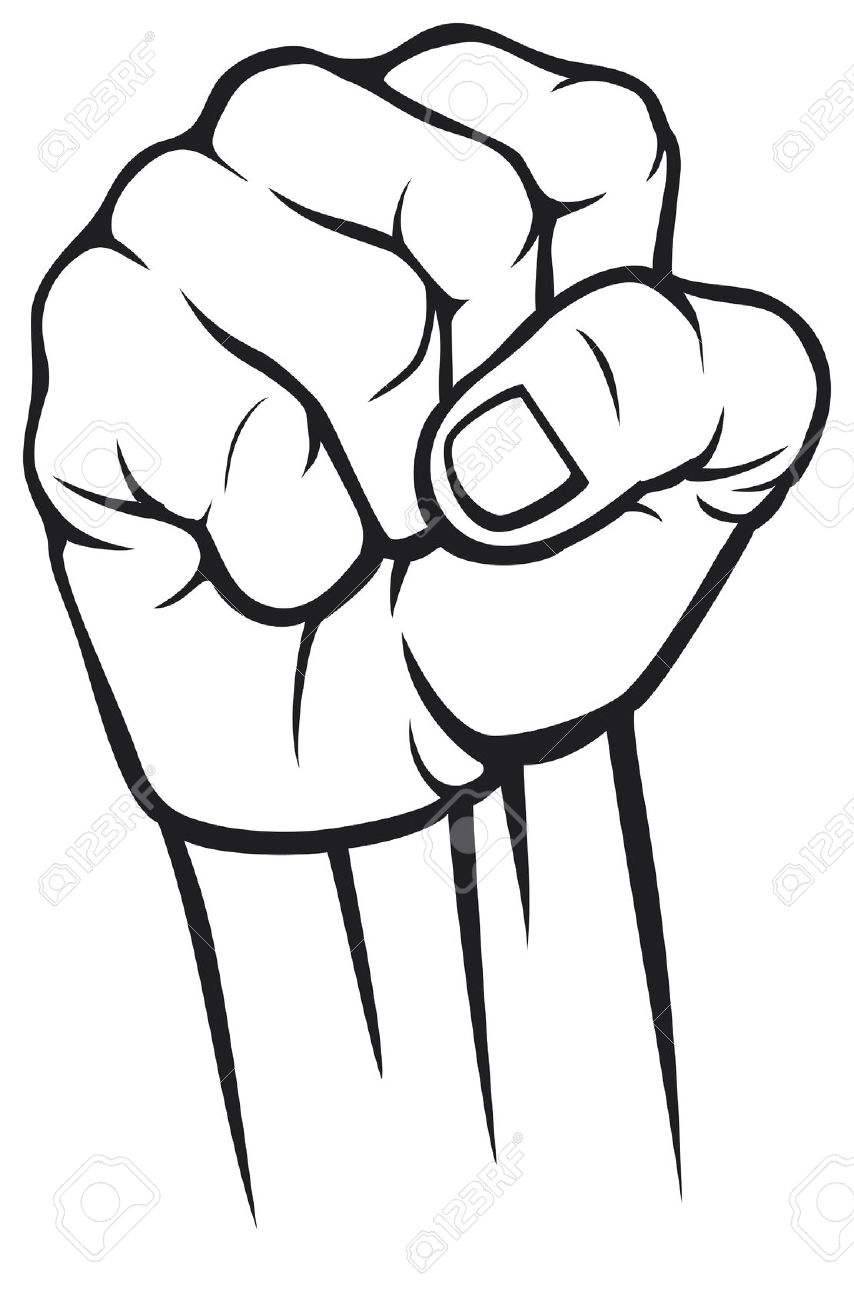 854x1300 Collection Of Black Fist Drawing High Quality, Free Cliparts