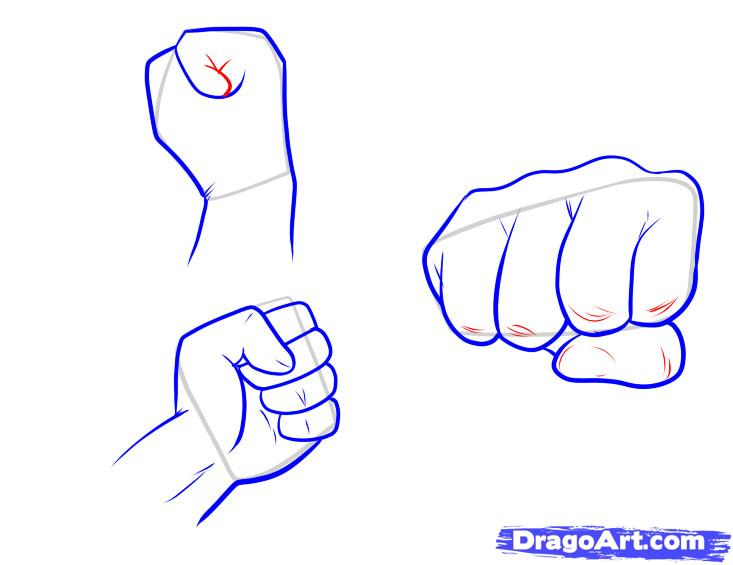 733x565 Collection Of Balled Up Fist Drawing High Quality, Free