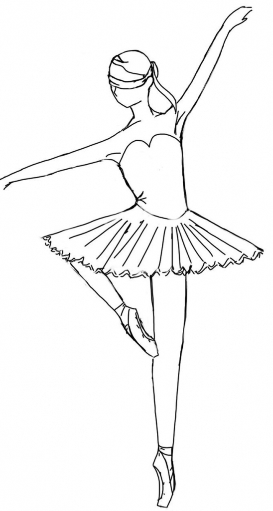 how to draw a dancer leaping