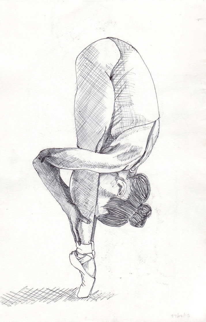 Ballerina Figure Drawing