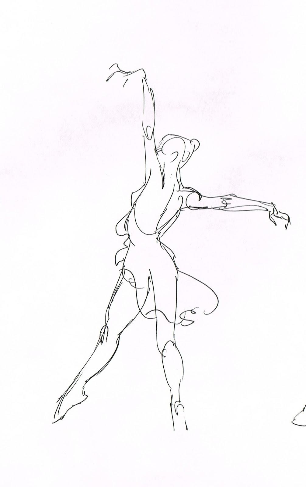 Ballerina Figure Drawing At Getdrawings