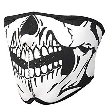 355x355 C Pioneer Striking Skull Neoprene Half Face Mouth Mask Ski