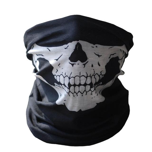 640x640 Hot Black Skull Mask Bandana Bike Motorcycle Helmet Neck Face Mask