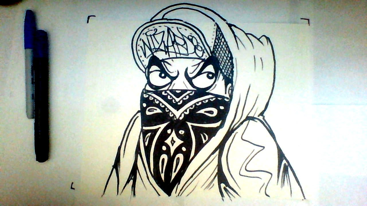 1280x720 How To Draw A Graffiti Character With A Bandana