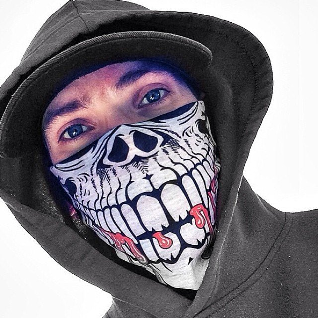 640x640 Skull Face Mask Bandanas Skull Neck Gaiter Bandanas
