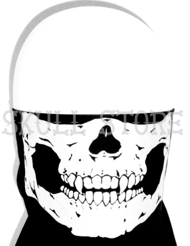 1158x1500 Biker Skeleton Bandana Face Half Mask Skull Motorcycle Scarf Cover