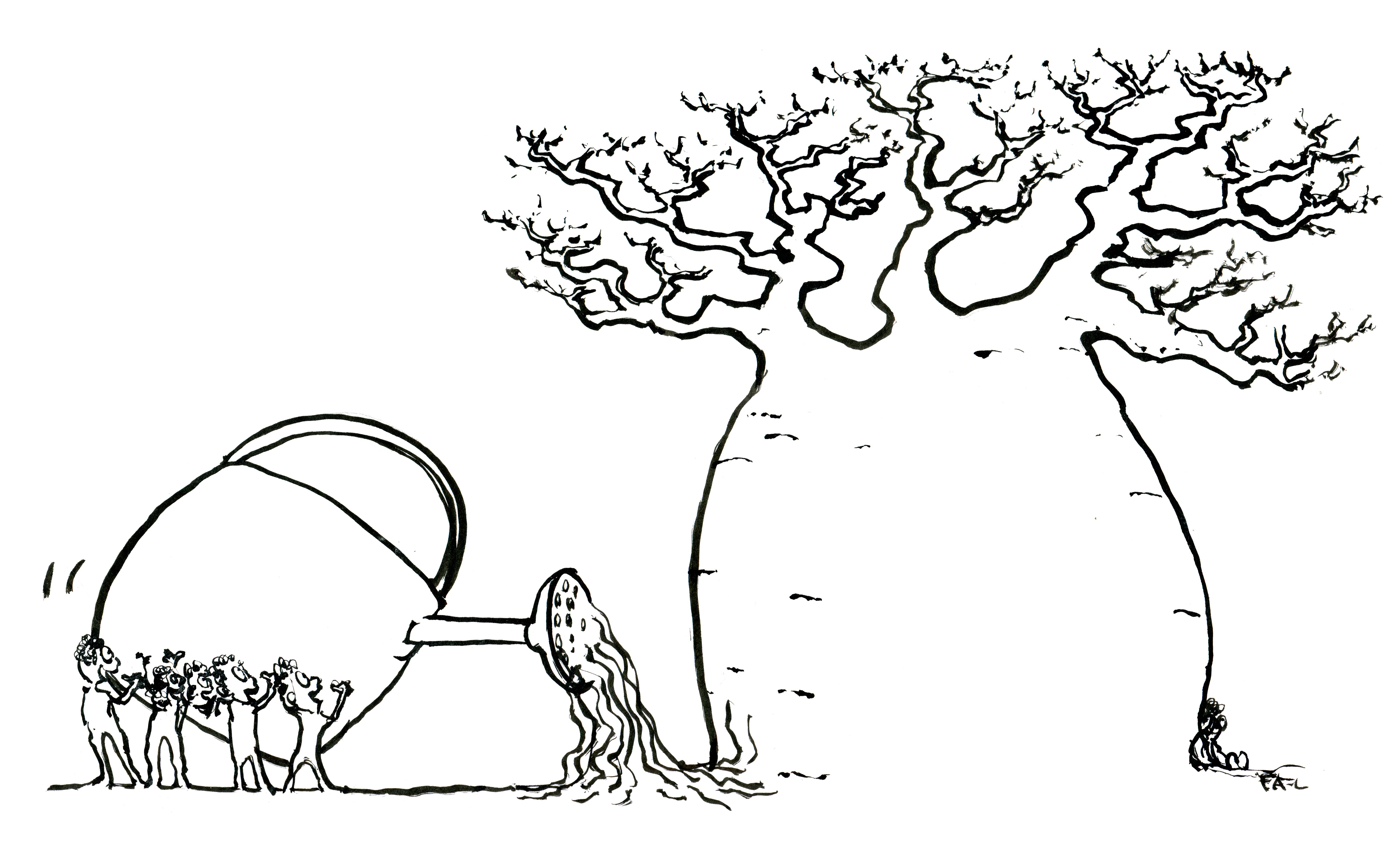 6000x3633 Baobab Please Don'T Give Up Frits Ahlefeldt Laurvig Drawn Philosophy