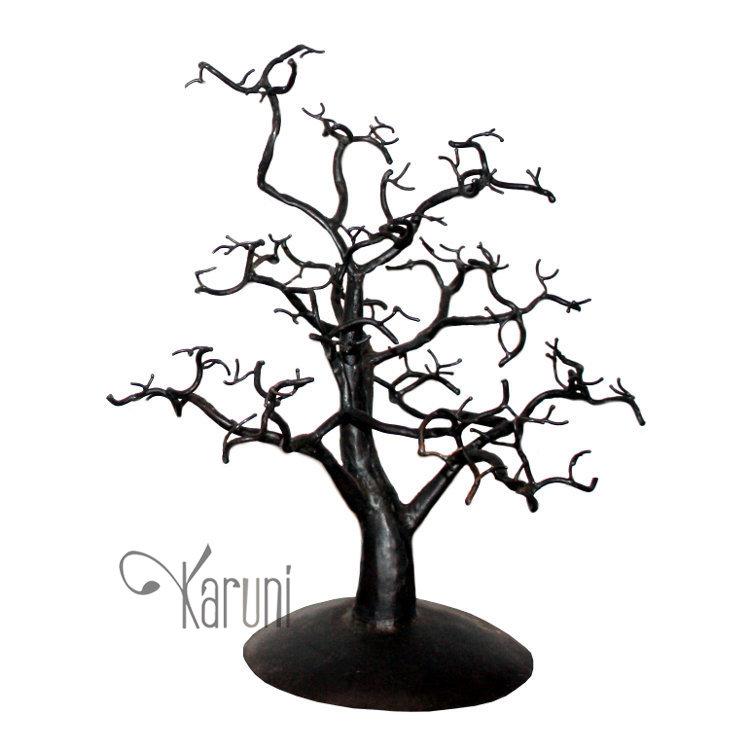 750x750 Jewelry Tree Holder Design 30x30 Cm Cedar Recycled Metal