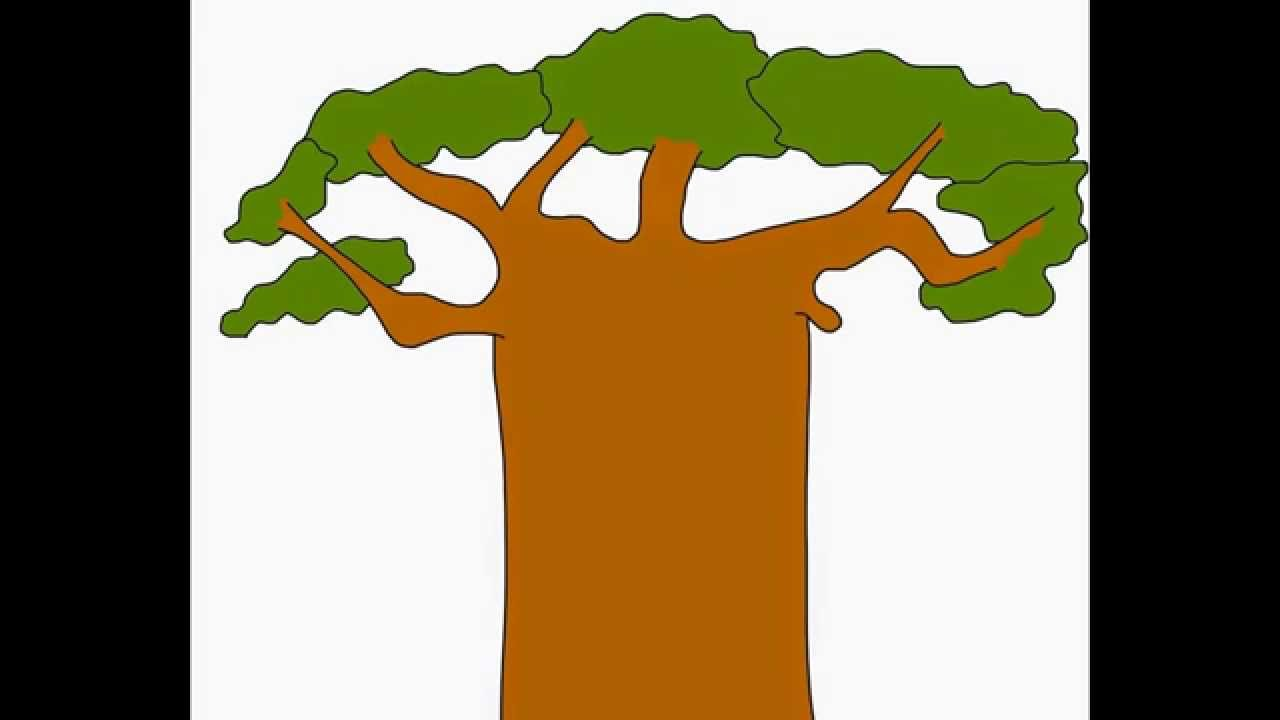 1280x720 Baobab Monkey Bread Tree How To Draw A Easy