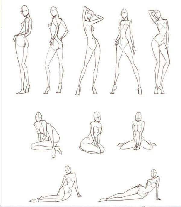 600x685 Poses Women How To Draw Drawings, Pose And Sketches