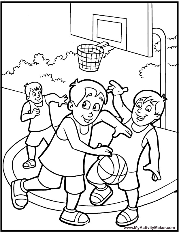 621x814 Catchy Basketball Coloring Pages For Kids Preschool To Sweet