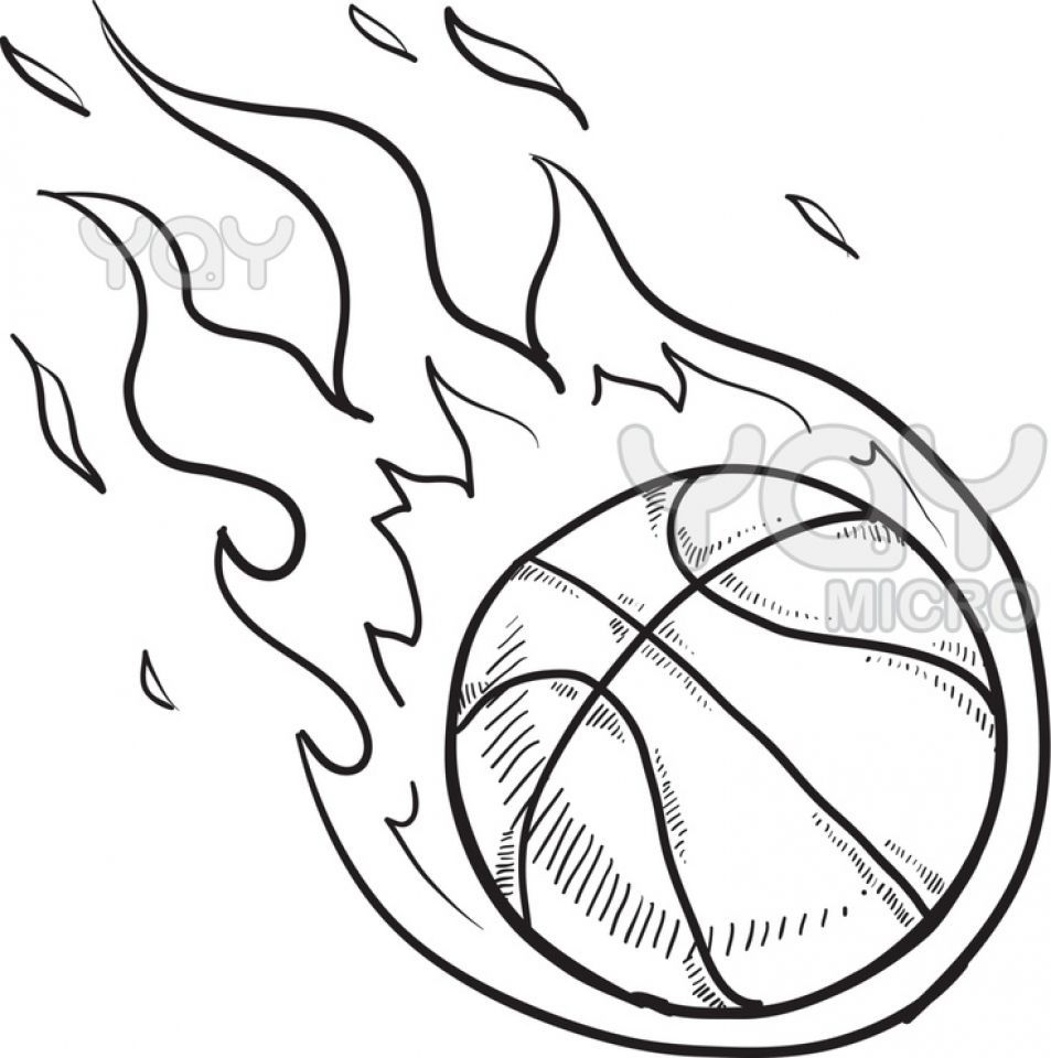 953x960 Stunning Printable Basketball Coloring Ever Pic For Court Page