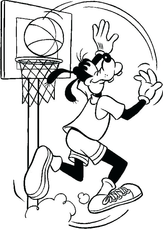 553x778 Basketball Court Coloring Page Pages Players Player