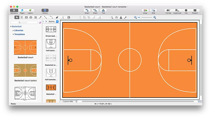 800x449 Create Basketball Court Diagram Conceptdraw Helpdesk
