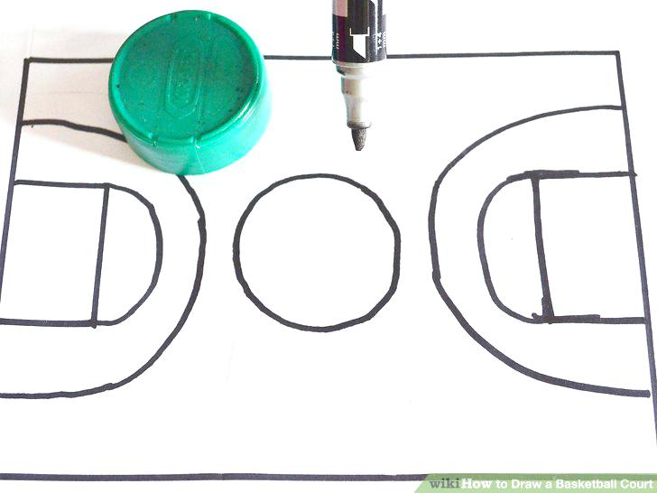 728x546 How To Draw A Basketball Court S Draw And Label A Standard