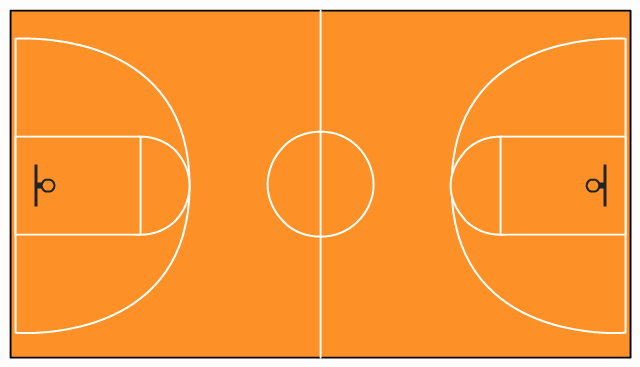 Basketball Court Drawing With Label At Getdrawings Free For