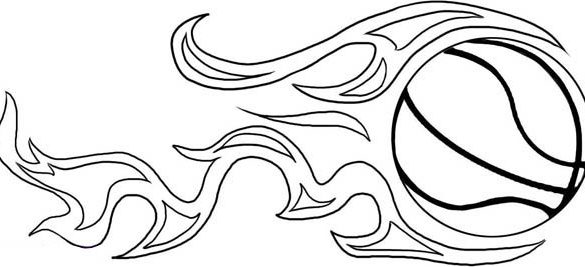 585x267 Sure Fire Printable Basketball Pictures Coloring Pages Free