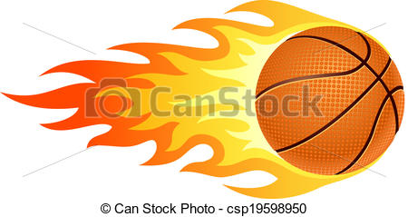 450x239 Collection Of Basketball On Fire Drawing High Quality, Free