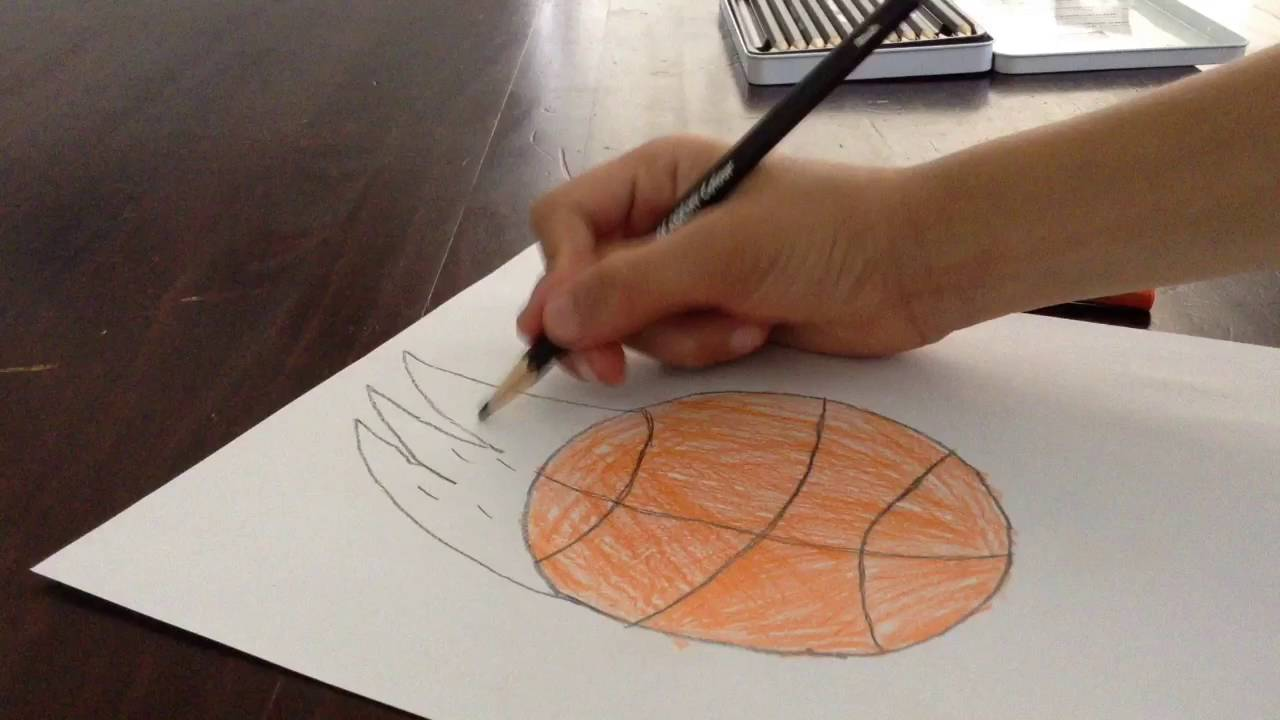 1280x720 How To Draw A Basketball On Fire