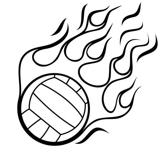540x503 Basketball On Fire Drawing. Kinder Sport Vektorgrafik