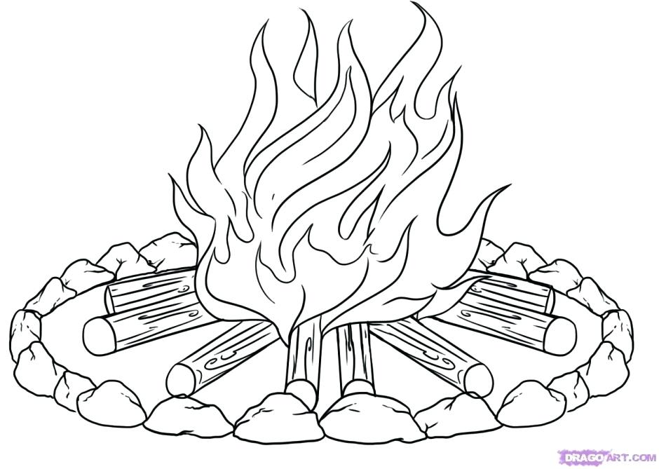 940x669 Camp Fire Colouring Pages Campfire Coloring Pages Camp Fire
