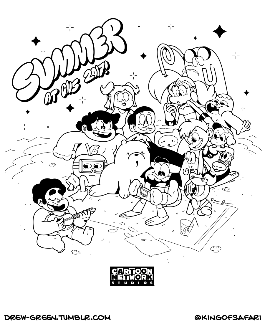 900x1100 Drew Green On Tumblr! Designed The Tote Bag For Cartoon Network