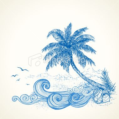380x380 Collection Of Tumblr Beach Drawing High Quality, Free
