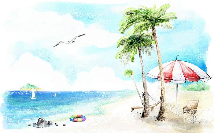 700x438 Beach Drawing