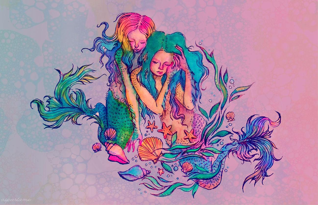 1298x838 Mermaids By Flowwwer