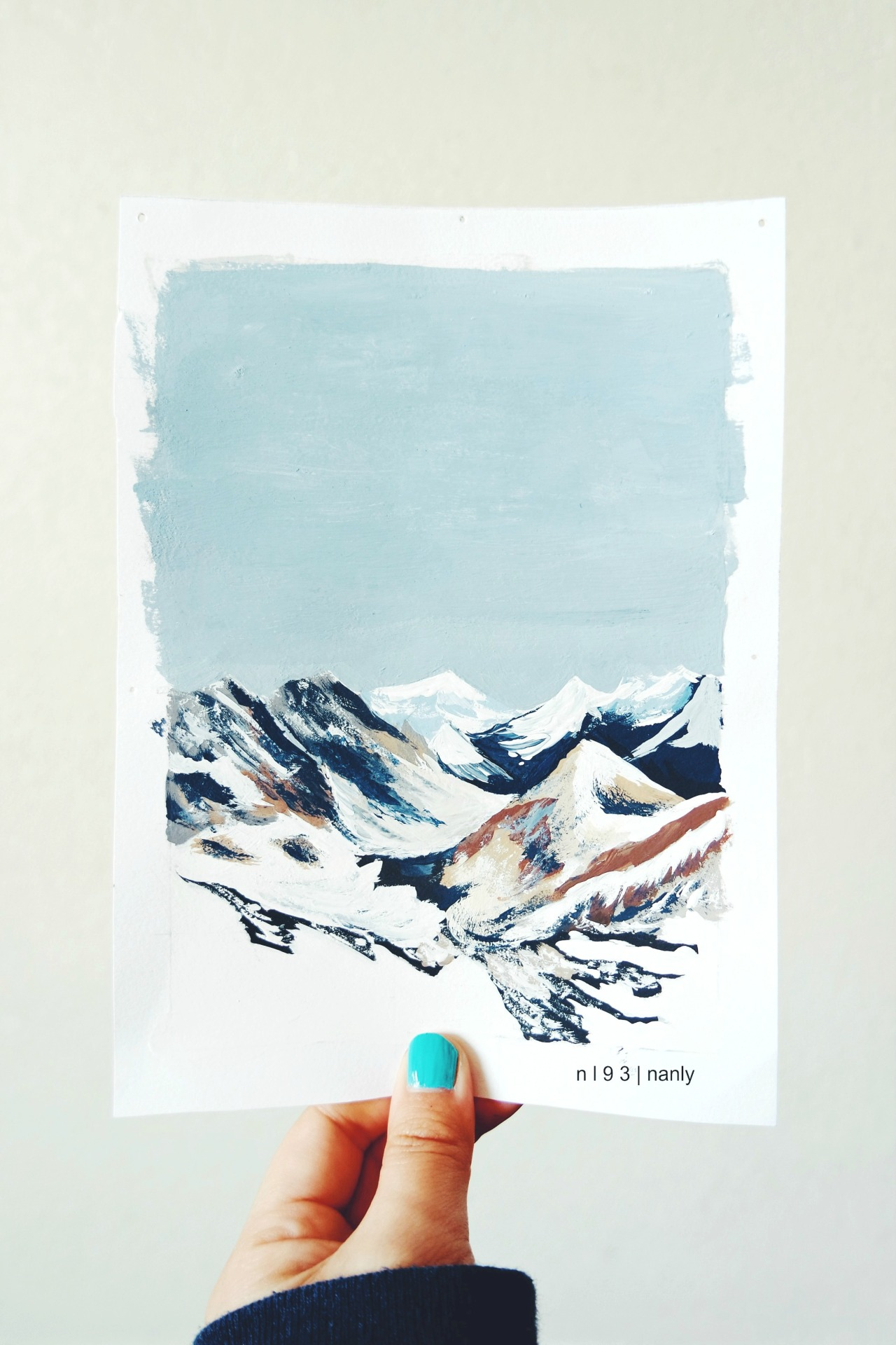 1280x1920 Snow Beauty Winter Illustration Art Mine Life Landscape Draw
