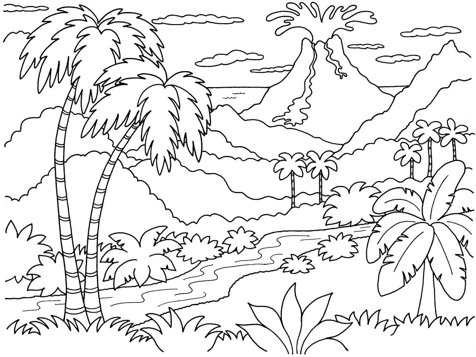 1600x1200 Coloring Pages Nature For Adults Smartness Inspiration Astonishing