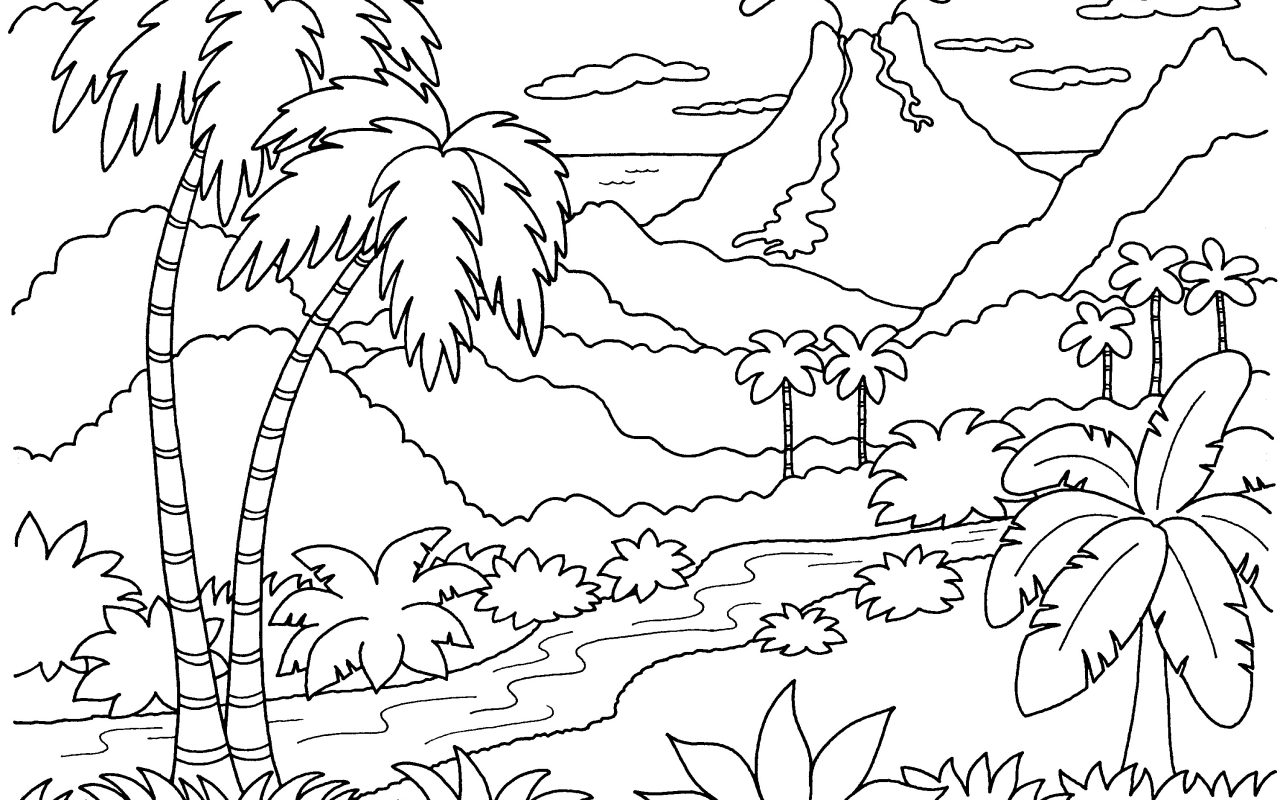 1280x800 Free Printable Nature In Spring Coloring Pages Kids Beautiful