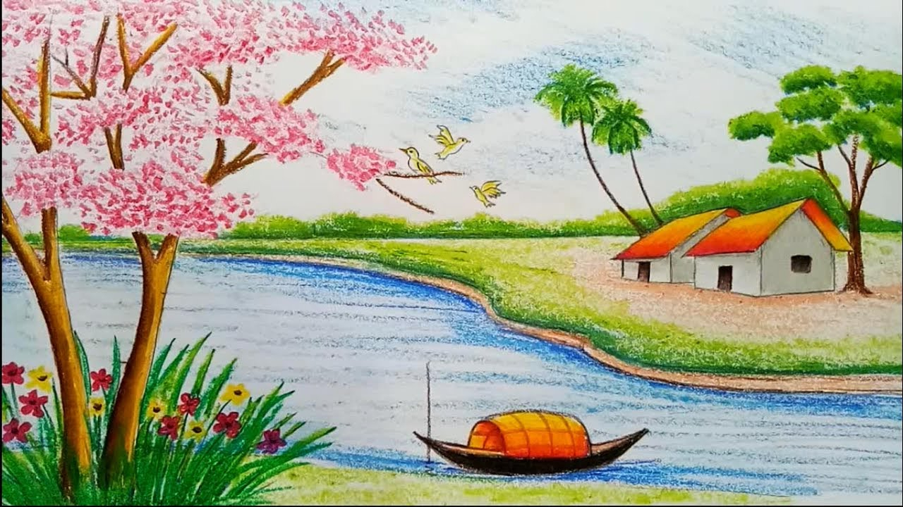 1280x720 A Beautiful Drawing Of Nature World Beautiful Drawing Nature