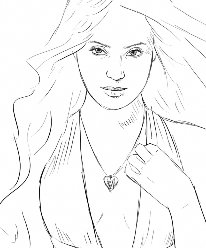 851x1024 Drawing Layout Of A Beautiful Girl Simple Sketches Of Beautiful