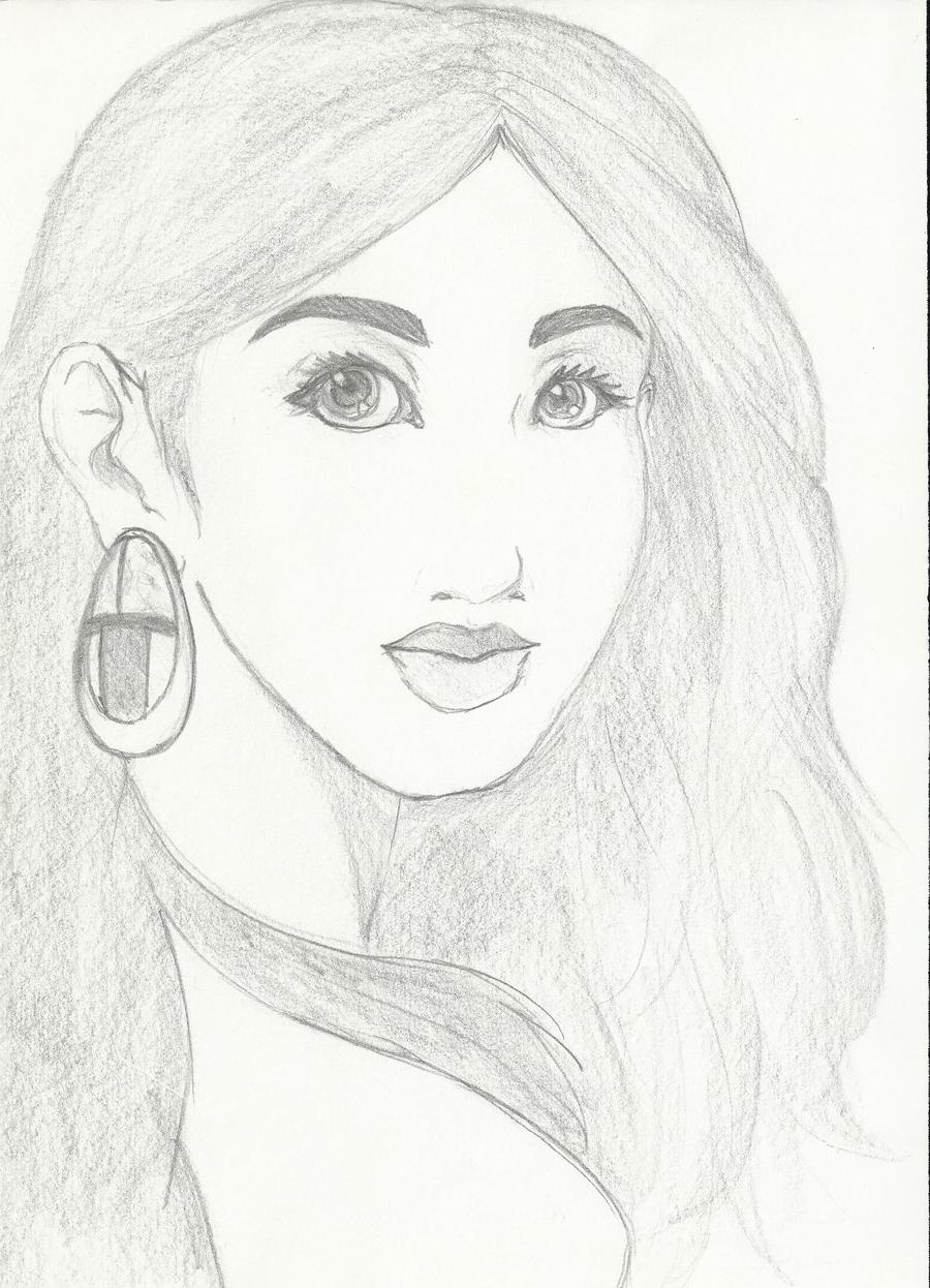 900x1246 Image Of Sketch Of Beautiful Girls Drawing Beautiful Girls Face