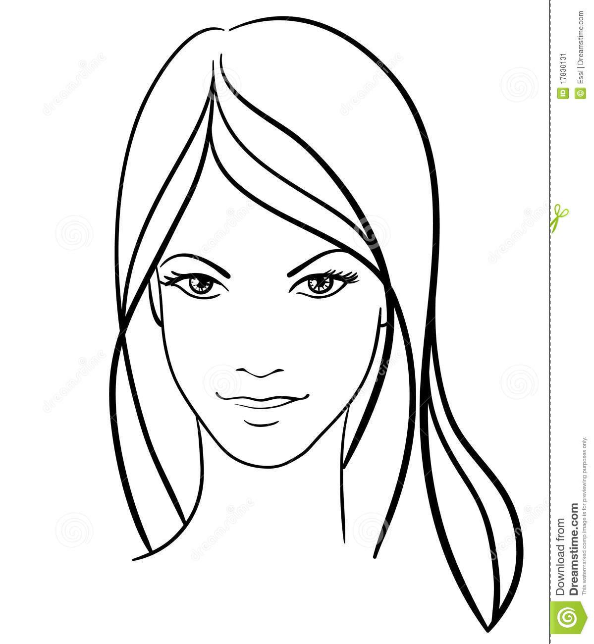 1199x1300 Sketch Face Girl Simple Beauty Girl Face Icon Stencil Ideas