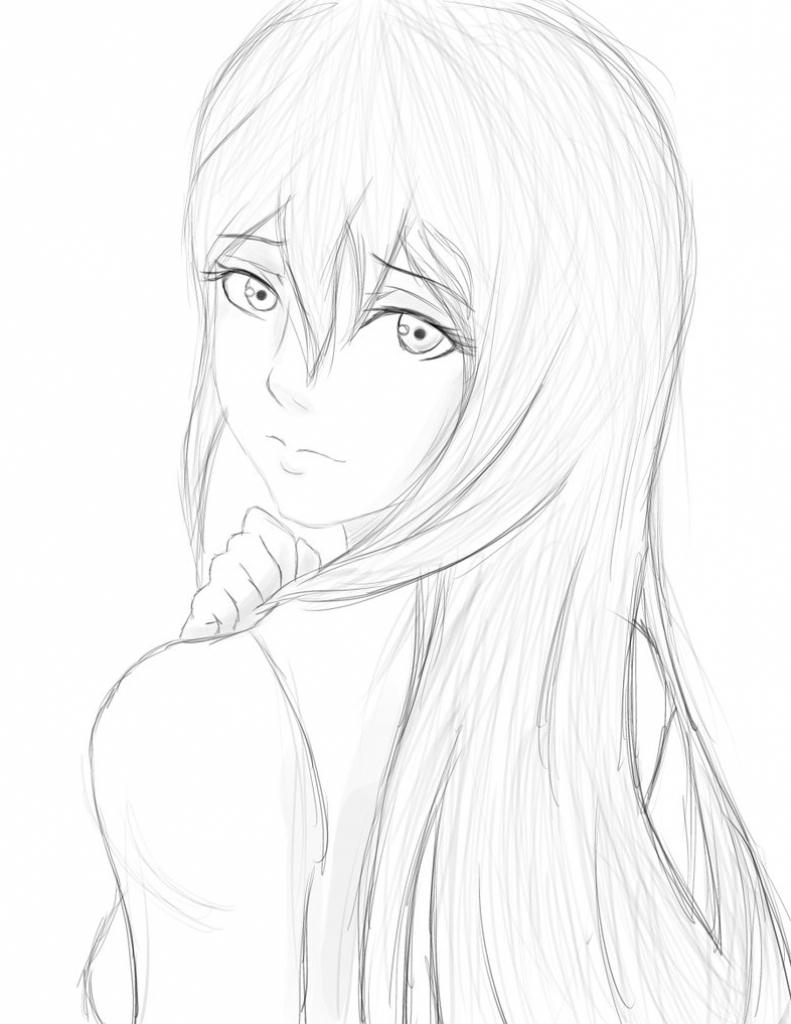 791x1024 Beautiful Cartoon Girls Face Pics Pretty Girl Face Drawing