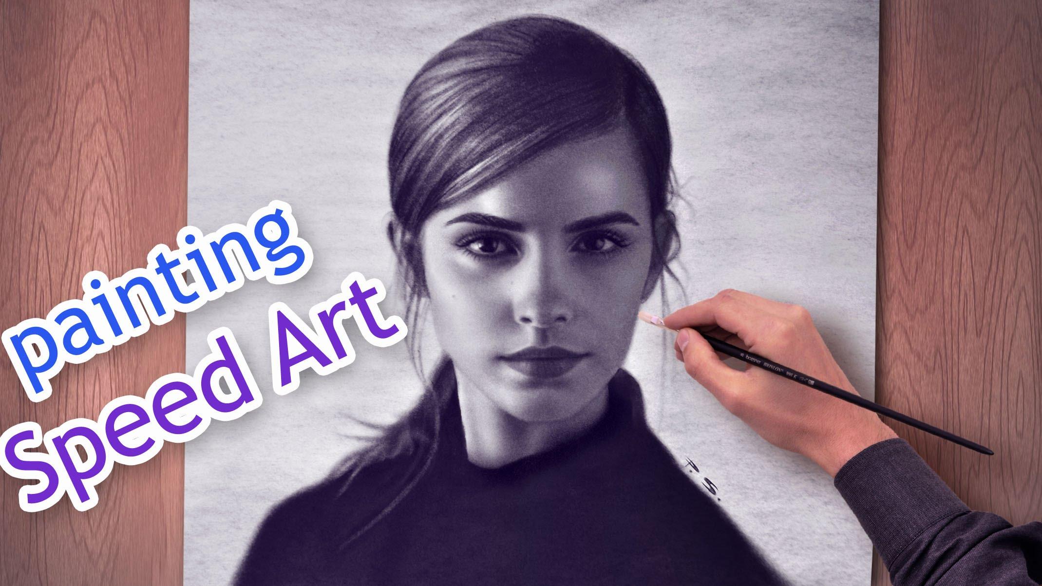 2139x1203 Emma Watson Amazing Speed Paint Beautiful Girls Hd Draw Face