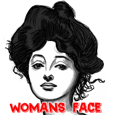 400x400 How To Draw Female Faces With A Beautiful Woman's Portrait