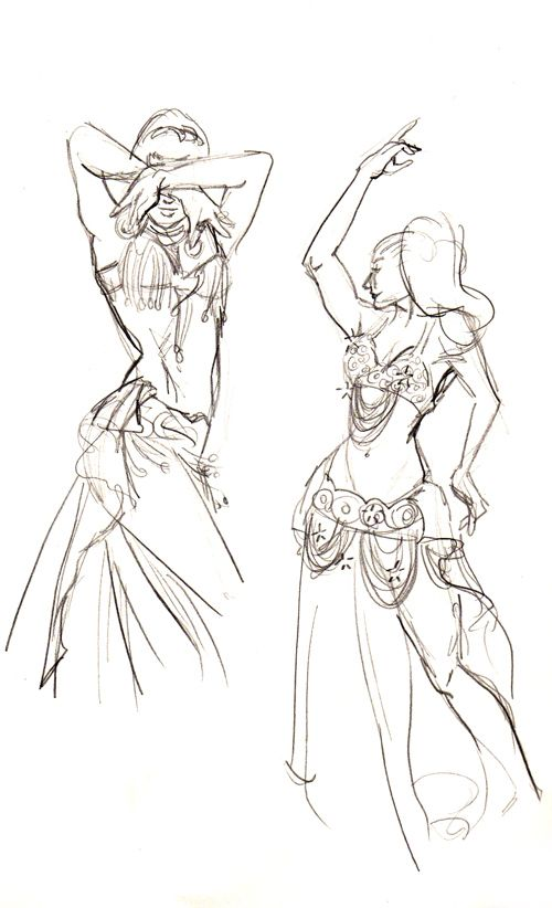 500x822 Belly Dancers By Firshania On Paint'Speration