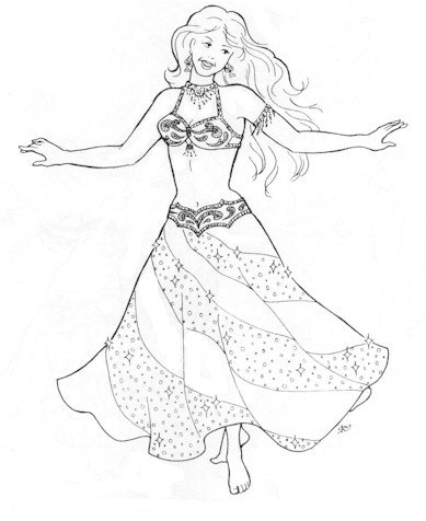 389x476 Suzanna's Swirl Skirt Pattern (Belly Dance)