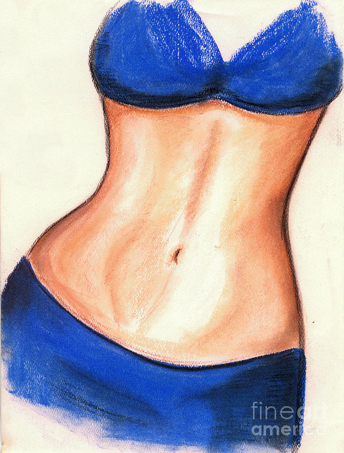 684x900 Belly Dancer Sketch Drawing By Angela Bingham
