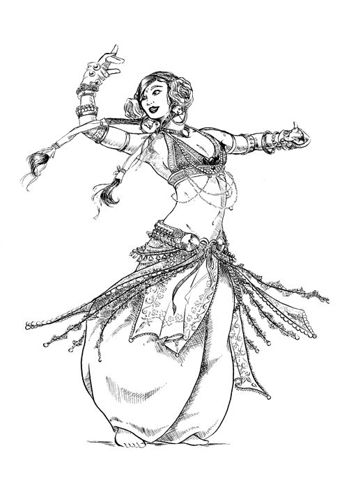 491x697 Belly Dancer By On @