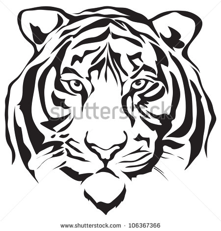 450x470 Gallery Sketch Of Bengali Tiger Face,